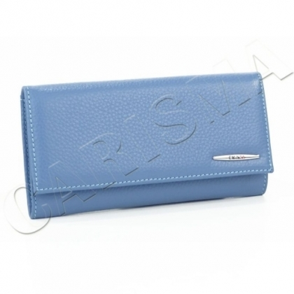 Синьо дамско портмоне с капак 2153-1