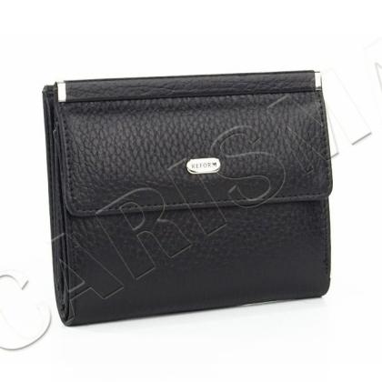 Малко компактно кожено портмоне в черно 1399-8