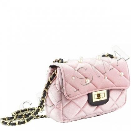 Чанта с перли от плюш