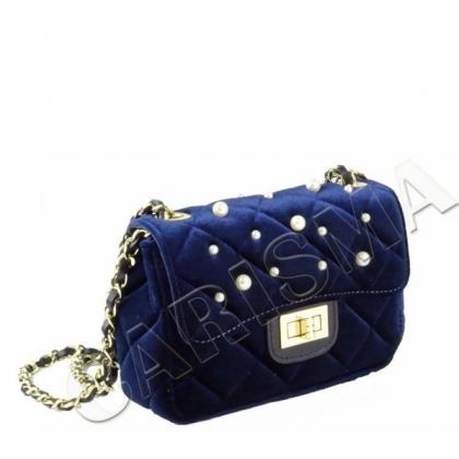 Чанта с перли от плюш 0078-3