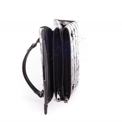 Удобна черна чанта на рамо