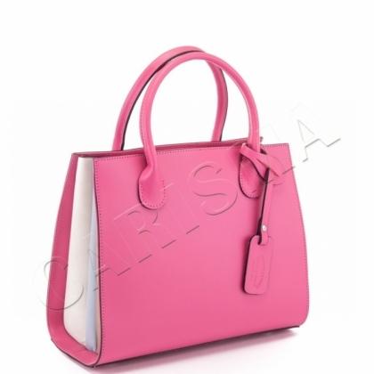 Многоцветна дамскa чанта от естествена кожа 6565-1