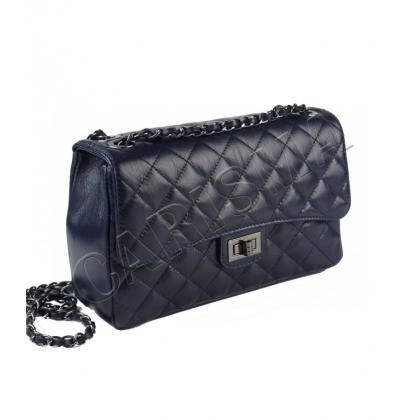 Среден размер дамска чанта от естествена кожа