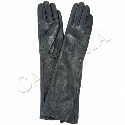 Дамски дълги ръкавици от естествена кожа 9035