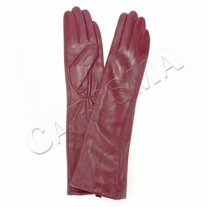Дамски дълги ръкавици от естествена кожа 9035-1