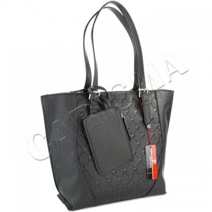 Дамска чанта Pierre Cardin в черен цвят 3412-3