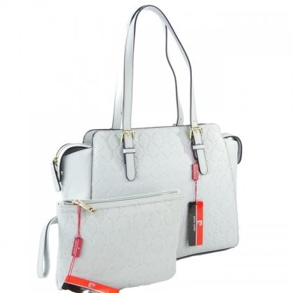 Подаръчен комплект чанта и несесер Pierre Cardin