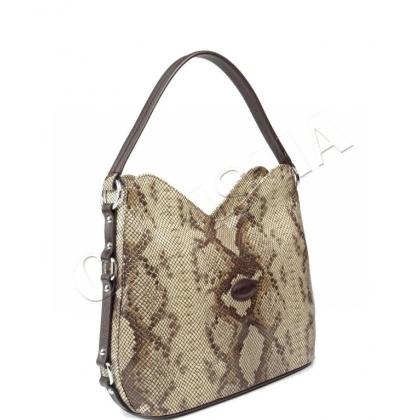 Ефектна дамска чанта от естествена кожа