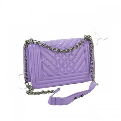 Лилава дамска чанта