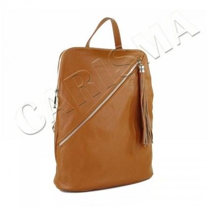 Спортно-елегантна чанта-раница от естествена кожа I2572