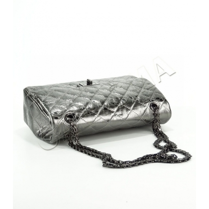Сребриста дамска чанта