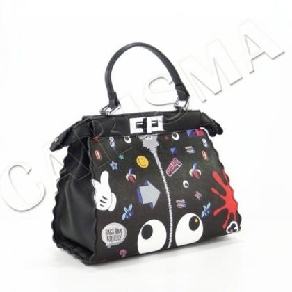 Среден размер дамска чанта от естествена кожа F1031