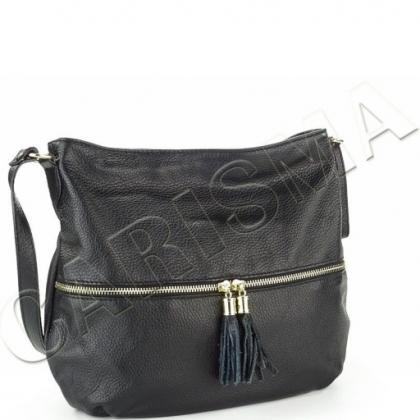 Кожена чанта с дълга дръжка