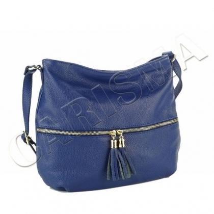 Дамска чанта с пискюли, Тъмносиня, L2393-3