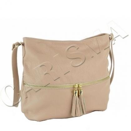 Дамска чанта с пискюли, Пудра, L2393-4