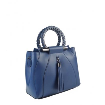 Стилна дамска чанта от естествена кожа 1520-4