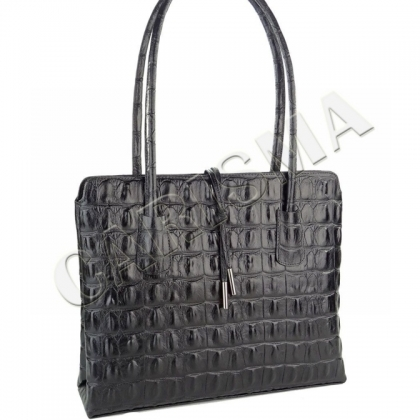 Дамска чанта с крокодилска щампа P2310