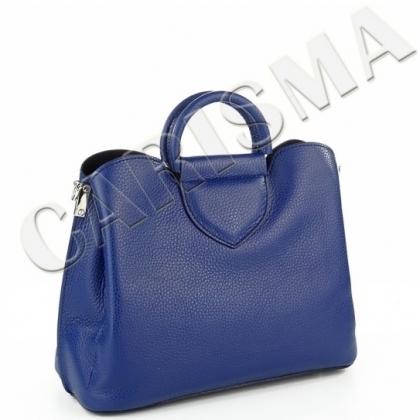 db591cff4ad Тъмносиня дамска чанта от естествена кожа 1582