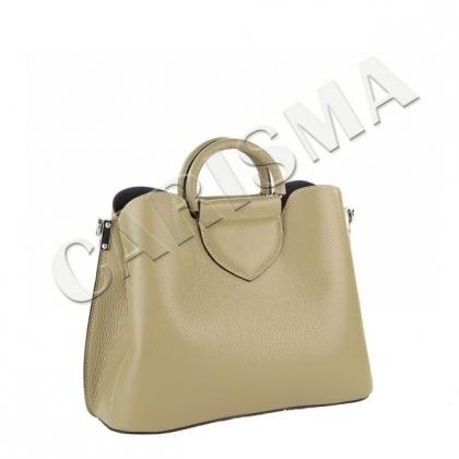 Дамска чанта в цвят каки 1582-5