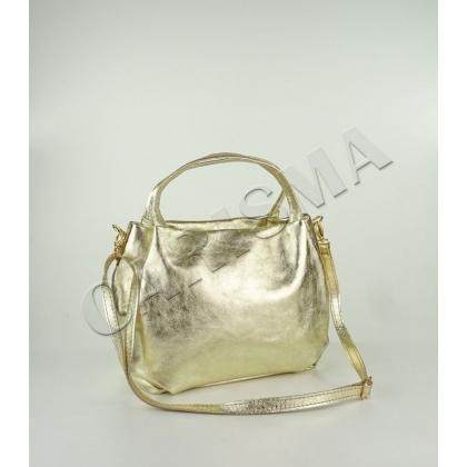 Малка дамска чанта в златисто