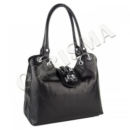 Дамска чанта с метален обков 1827-3