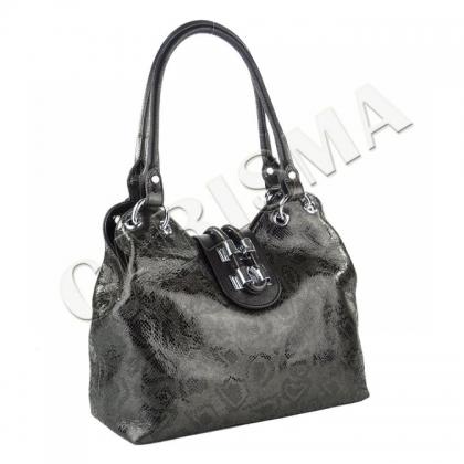 Дамска чанта с питонски принт 1827-4