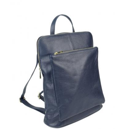 Голяма тъмносиня чанта раница с отделения