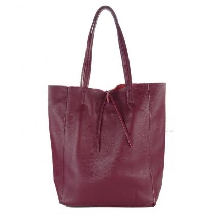 Дамска чанта тип торба в цвят бордо 1666-2