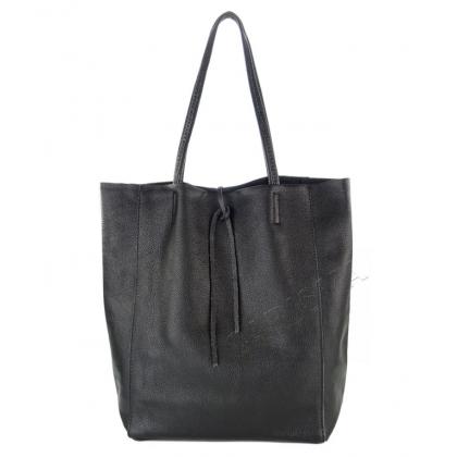 Голяма кожена чанта тип торба 1666-3