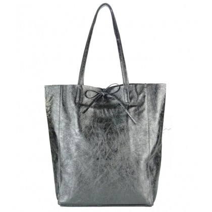 Чанта тип торба в цвят старо сребро 1666-4