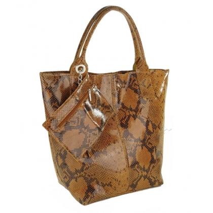 Чанта тип торба с портмоне, Змийска 4576IT