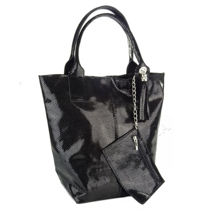 Голяма чанта тип торба, Змийска щампа 4576IT-3