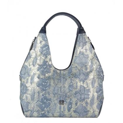 Дамска чанта със змийски принт 3293G