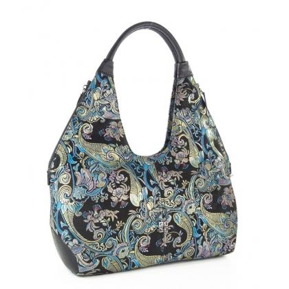 Дамска чанта с флорални мотиви 3293G-1