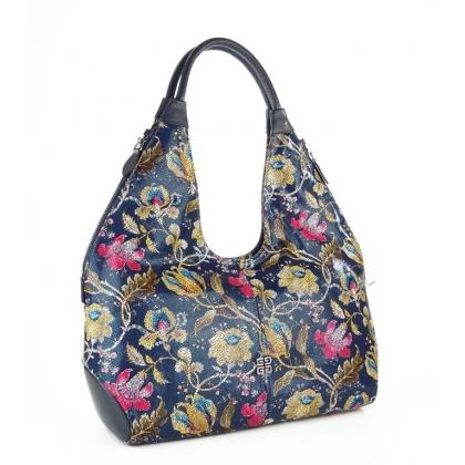 Дамска чанта с ефектен флорален принт 3293G-2
