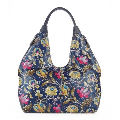 Кожена чанта на цветя