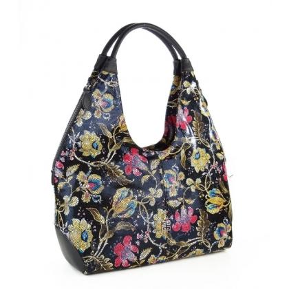 Чанта с ефектен флорален принт 3293G-3