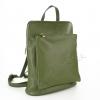 Чанта раница в маслено зелен цвят