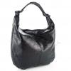 Чанта с лъскав ефект в черно