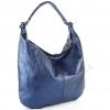 Чанта тип торба с син цвят