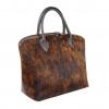 Чанта с естествен косъм в кафяво