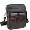 Стилна мъжка чанта с джоб с магнит