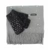 Комплект шал и ръкавици с перли