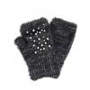 Черни ръкавици с перли