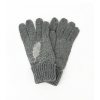 Сиви ръкавици с перо