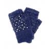 Тъмносини ръкваици с перли