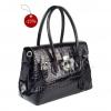 Кожена дамска чанта естествена лак