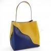 Дамска чанта в два цвята от висококачествена кожа