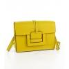 Жълта чанта с дълга дръжка