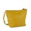 Дамска кожена чанта в цвят горчица
